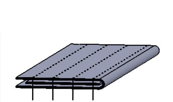Aparelho de debrum sem dobra para catraca com guia para elástico
